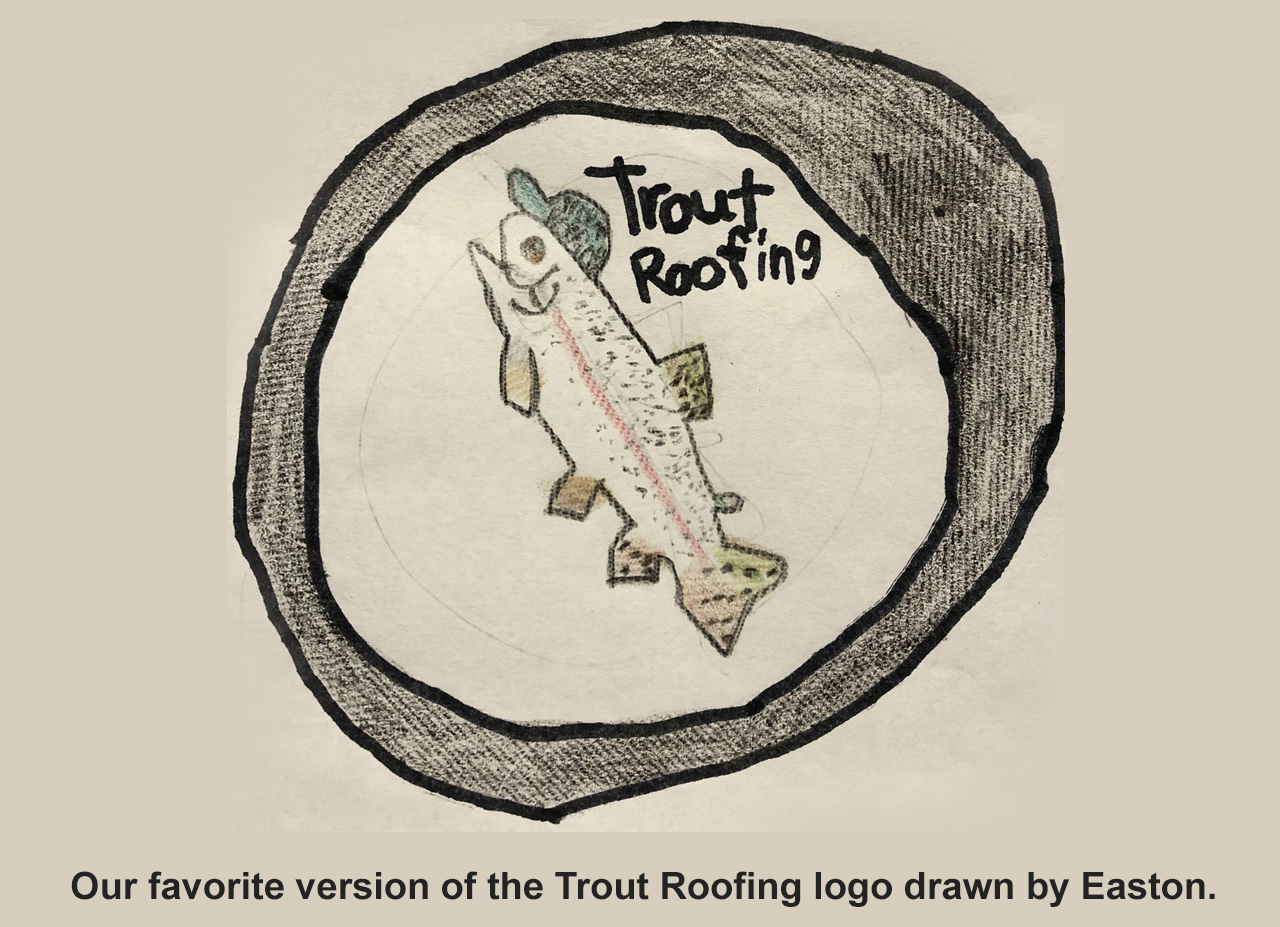 Trout Roofing Logo Drawing